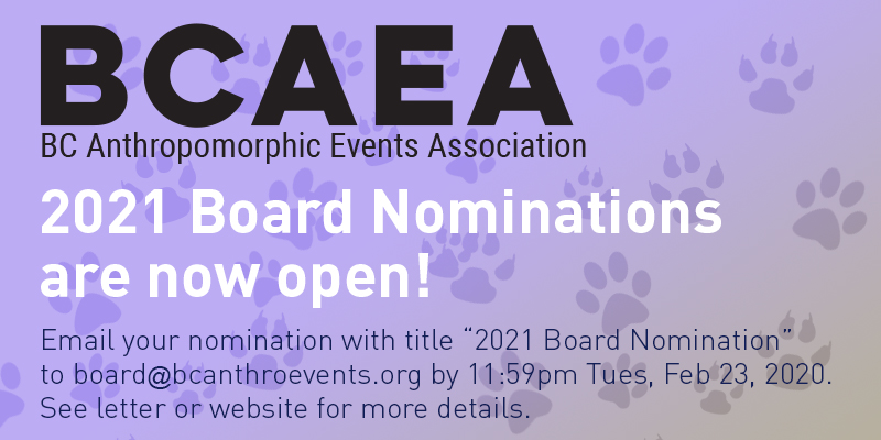 Nominations for BCAEA board and Community Rep are now open